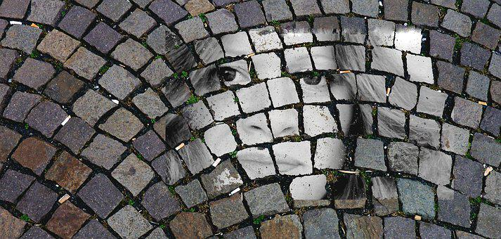 Patch, Face, Cobblestones, Road, Paving Stones, Stones