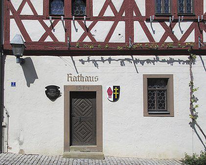 Fachwerkhaus, Sand-stone Portal, Town Hall, Portal