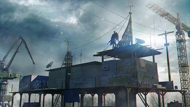 Apocalypse, 3d, Render, Fantasy, Industrial, Hero