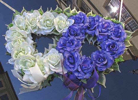 Wedding, Bouquet, Flowers, Heart, Auto, Wedding Car