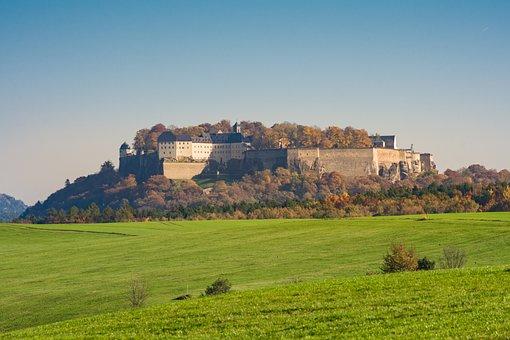 Königstein, Fortress, Elbe Sandstone Mountains