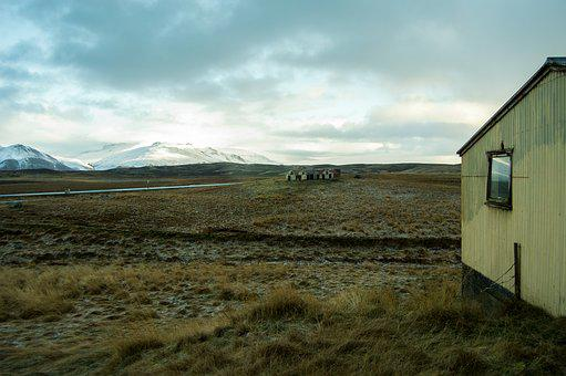 Iceland, Pastures, Cold, Mountains, North