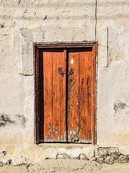 Door, Wooden, Brown, Old, Aged, Weathered, Decay