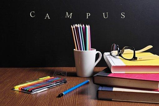 Back To School, Campus, Eyeglasses, Pencil Tray