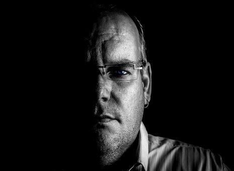 Man, Mysterious, Portrait, Shadow