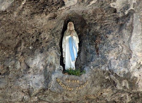 Madonna, Christian, Religion, Faith, Sculpture, Pray