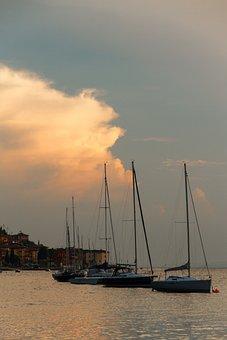 Garda, Sailing Vessel, Water, Italy, Holiday, Sail