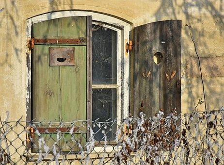 Window, Shutters, Wood, Wooden Windows, Fittings, Rusty