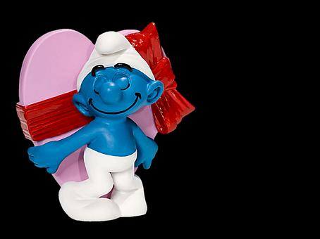 Smurf, Toys, Figure, Decoration, Deco, Heart