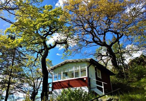 Cottage, Summer Cottage, Torp, Garden, Idyll, Old House