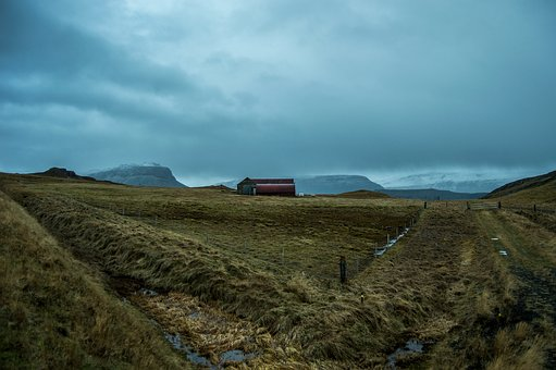 Iceland, Pastures, Cold, North, Turquoise, Nature