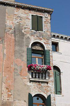 Italy, Architecture, Window, Flowers, Old Building