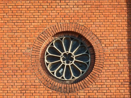 Rosette, Window, Stained Glass Window, Sacred, Church