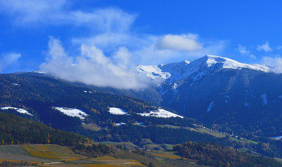 Mountains, Mountain, Alpine, Snow, Clouds