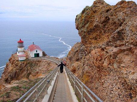 Point Reyes, California, Ocean, Coast, Landscape, Usa