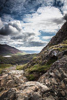 Welsh, Wales, Snowdonia, Snowdon, Sky, Clouds, Nature