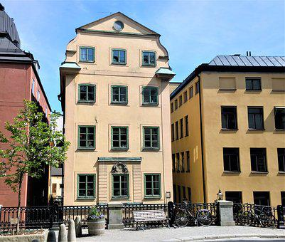 Stockholm, Building, Architecture, Facade, Old