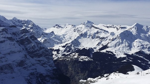 Mountain, Snow, Grindelwald, Swiss Alps, Mountains