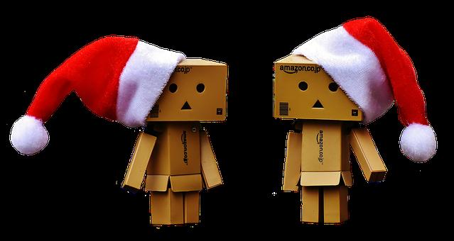 Danbo, Christmas, Figure, Together, Love, Togetherness