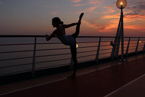 Yoga, Night, Meditation, Relaxation, Silhouette, Sky
