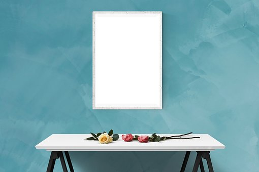 Poster, Mockup, Wall, Template, Presentation, Desk