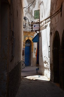 Alley, Oriental, Essaouira, Shadow, Door