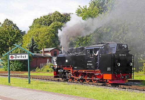 Steam Locomotive, Rasender Roland, Station Putbus