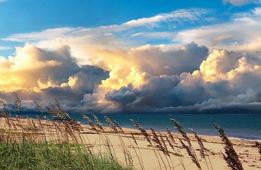 Sea, Atlantic Ocean, Vero Beach, Seascape, Tropic