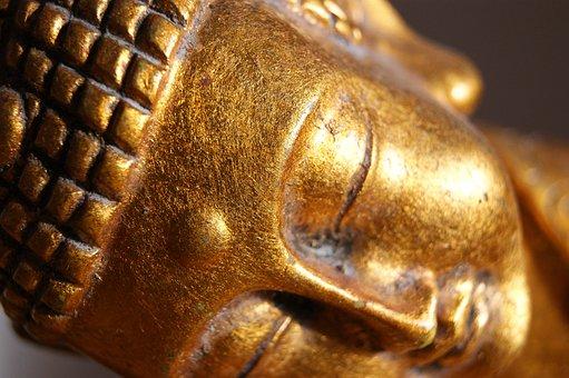 Buddha, Statue, Gold