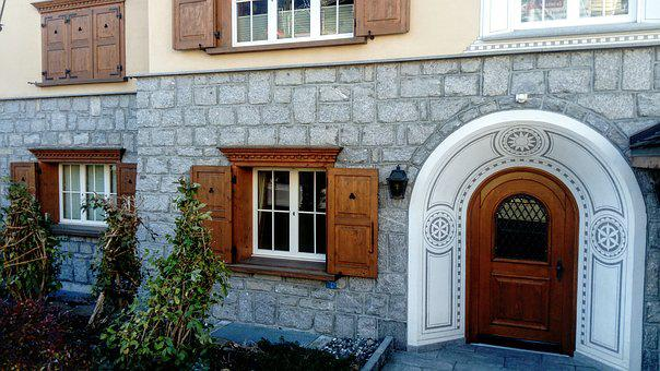 Entrance, House, Style, Old House, Monument, Model