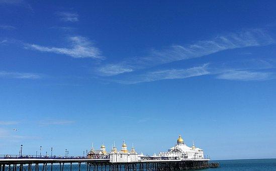 Eastbourne, Summer, Beach, Landscape, Coast, Seaside
