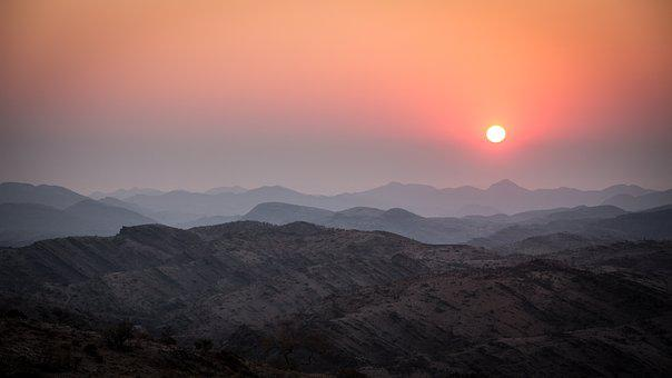 Namibia, Sunset, Nature, Travel, Park, Desert, Outdoors