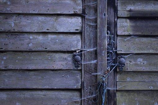 Window Shutter, Lock, Rustic Wood, Rotten, Old, Wood