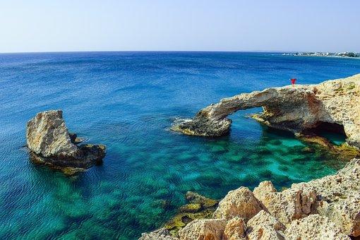 Cyprus, Ayia Napa, Lover's Bridge, View, Panoramic