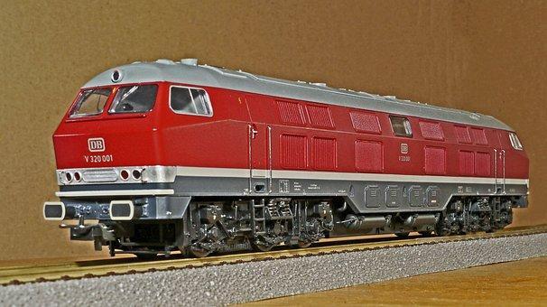 Diesel Locomotive, Model, Scale H0, Br V320