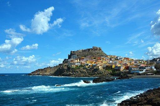 Sardinia, Sea, Castelsardo, Old Town