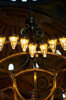 Lamp, Light, Chandelier, Background, Beautiful