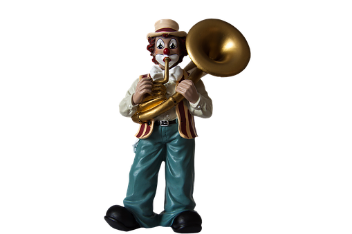 Clown, Musical Clown, Figure, Isolated