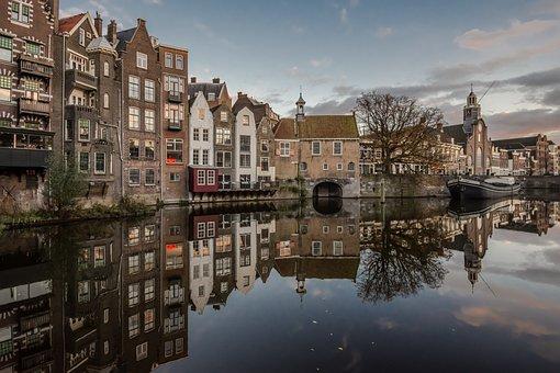 Holland, Rotterdam, City, Europe, Architecture, Sky