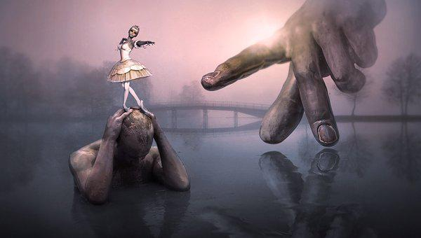 Fantasy, Surreal, Landscape, Hand, Finger, Dancer
