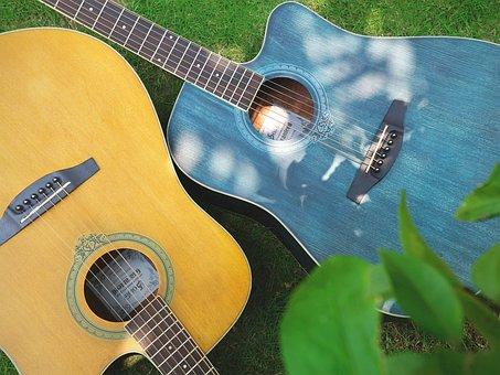 Guitar, Grassland, Music, Newnham, College Students