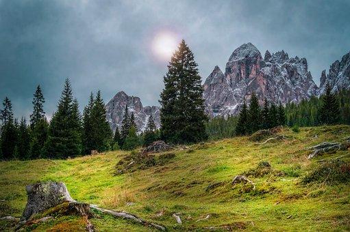 Landscape, Nature, Dolomites, Panorama, Rock, Sky