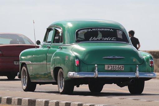 Cuba, Car, Caribbean, Havana, Vintage, Travel, American