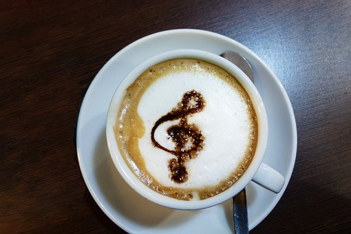 Coffee, Music, Treble Clef, Artwork, Coffee Cup