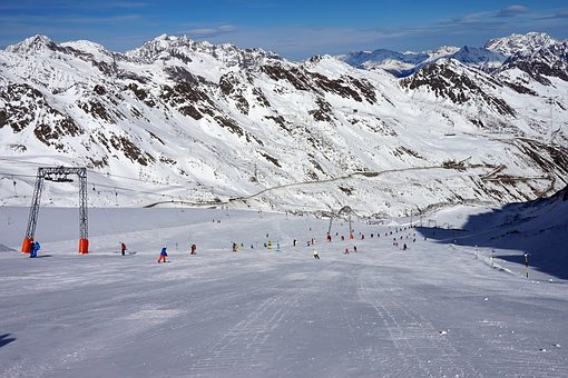 Sölden, Austria, Skiing, Mountains, Alps, Nature