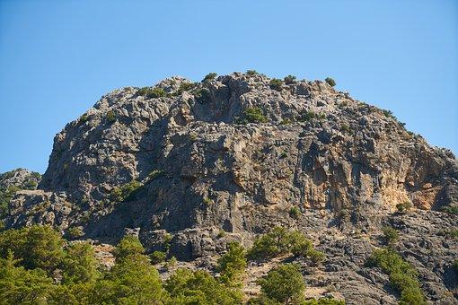 Rocky, Sky, Stone, Nature, Blue, Mountains, Plant
