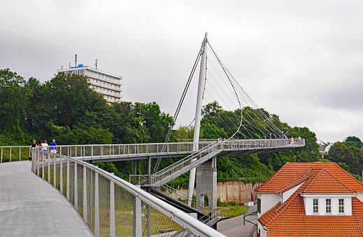 Pedestrians Dough, Port Of Sassnitz, The Upper City