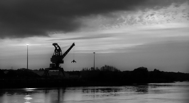 Crane, Industry, Wharf, Port, Dock, Industrial, Site
