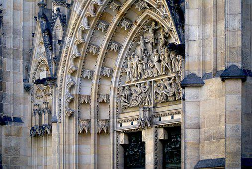 Portal, Sculpture, Relief, The Cathedral