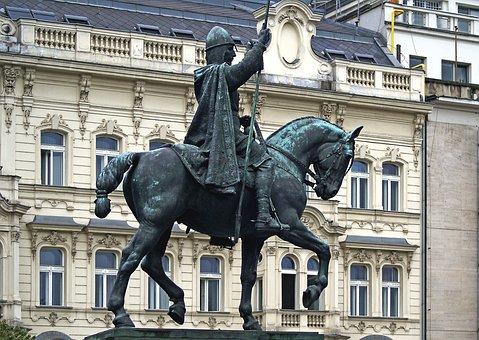 Monument, Jeżdziec, The Horse, Sculpture, Architecture